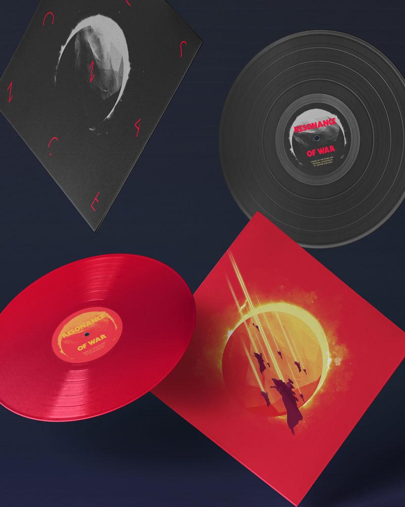 Antoine Ghioni - Resonance of War vinyl suspended portrait view