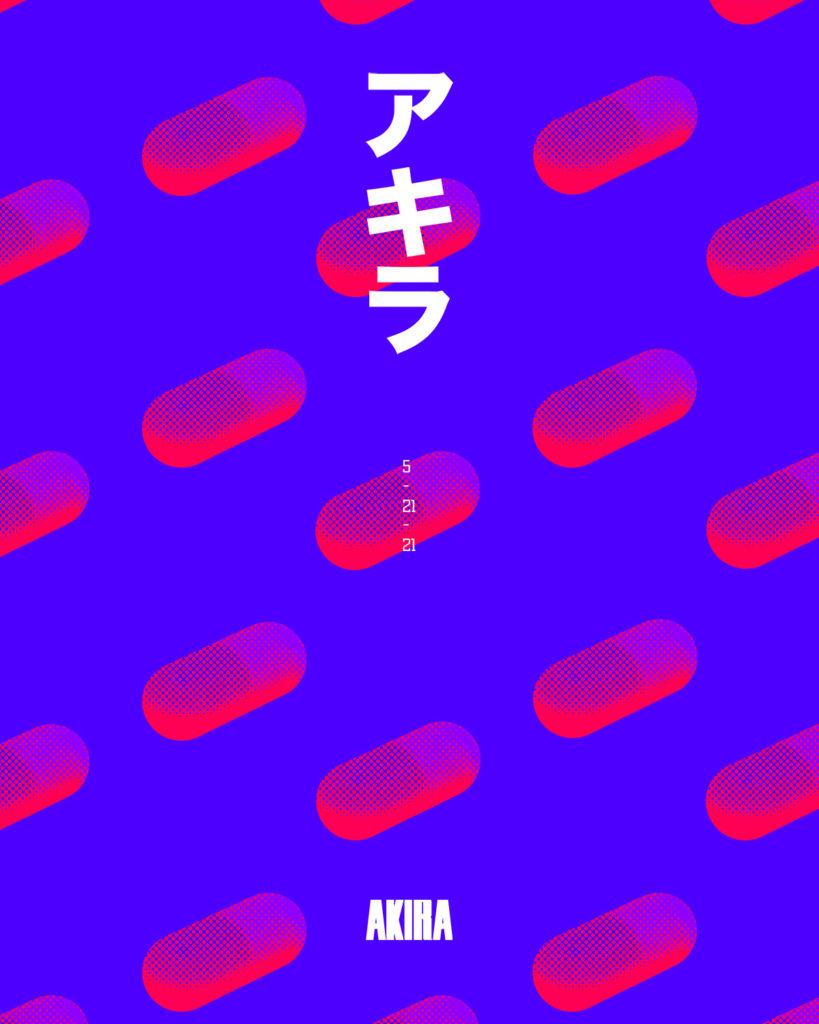 Antoine Ghioni - Akira poster pills duotone